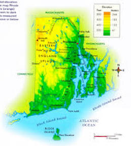 Physical Characteristics The Colony Of Rhode Island Providence - Rhode island physical map